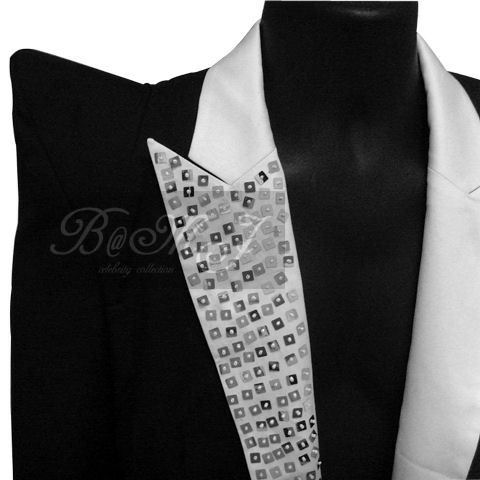 Michael Jackson This Is It Gems Lapel Black Jacket