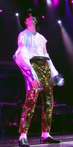 Michael Jackson This Is It Gold Sequin Trousers