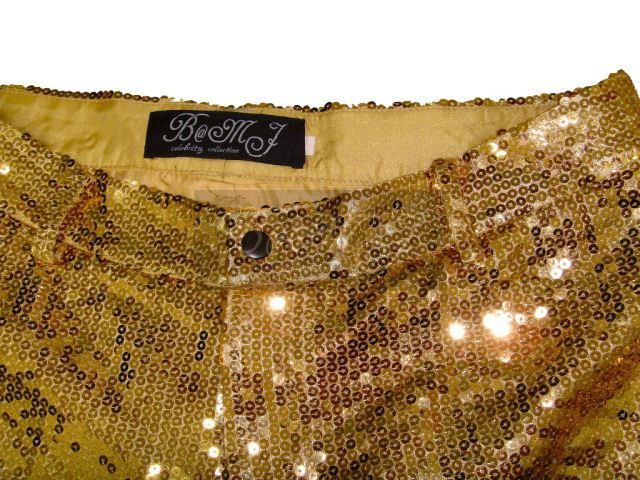 Michael Jackson This Is It Trousers with Gold Sequin