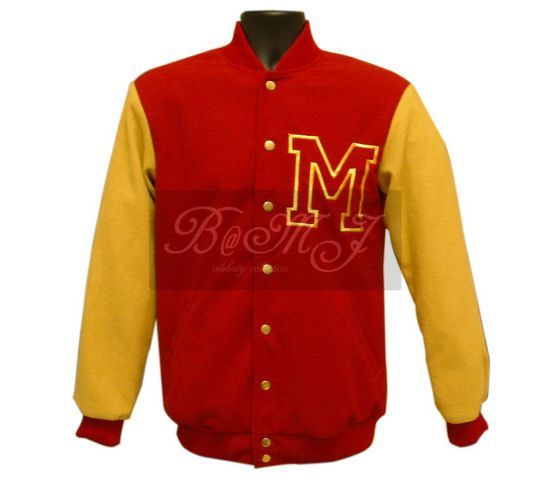 Michael Jackson Thriller Wolf Jacket in Red and Yellow Wool - Click Image to Close