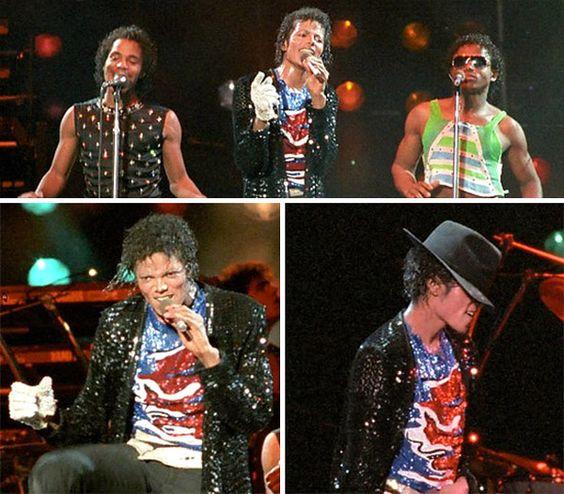 Michael Jackson Victory Tour Blue Sequins Shirt