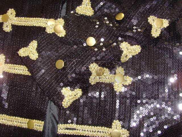 Michael Jackson Walk Of Fame Jacket Black Sequins