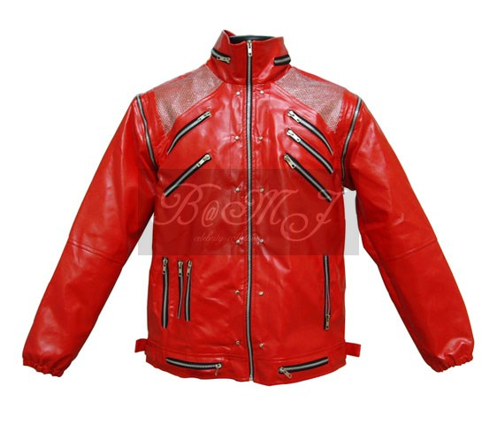 Michael Jackson Beat It Jacket in Red & Silver Shoulder - Click Image to Close