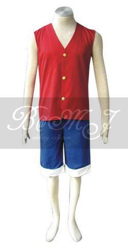 One Piece Monkey D Luffy Cosplay Costume - Click Image to Close